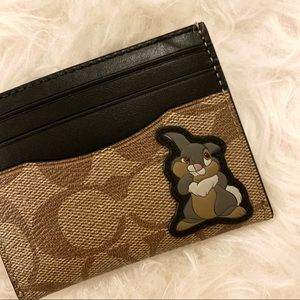 COACH x Disney Signature Thumper Card Holder
